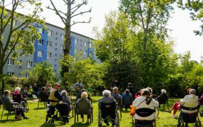 Musikalische Grüße am Johannisplatz und in Marienbrunn